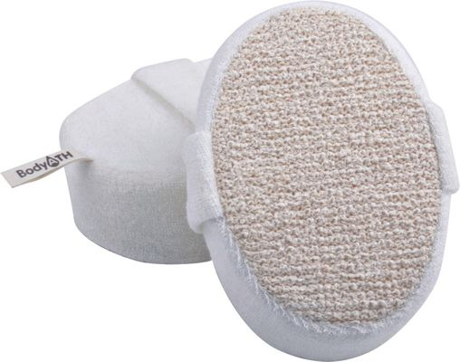 Dot Hemp Polyester Terry Body Scrubber for shower، Natural Pad برای تمیز کردن پوست
